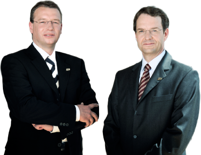Bild Vorstand der otris software AG - Dr. Frank Hofmann und Dr. Christoph Niemann