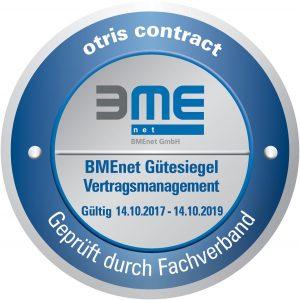 BME-Zertifikat für Vertragsmanagement-Software otris contract