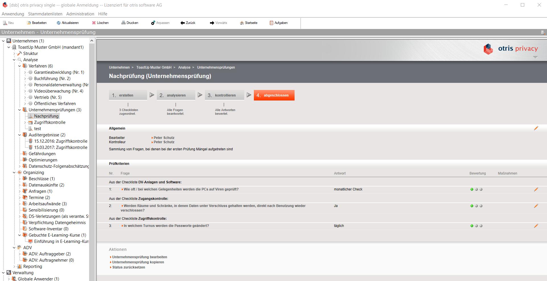 otris privacy - Datenschutzmanagement - Audit