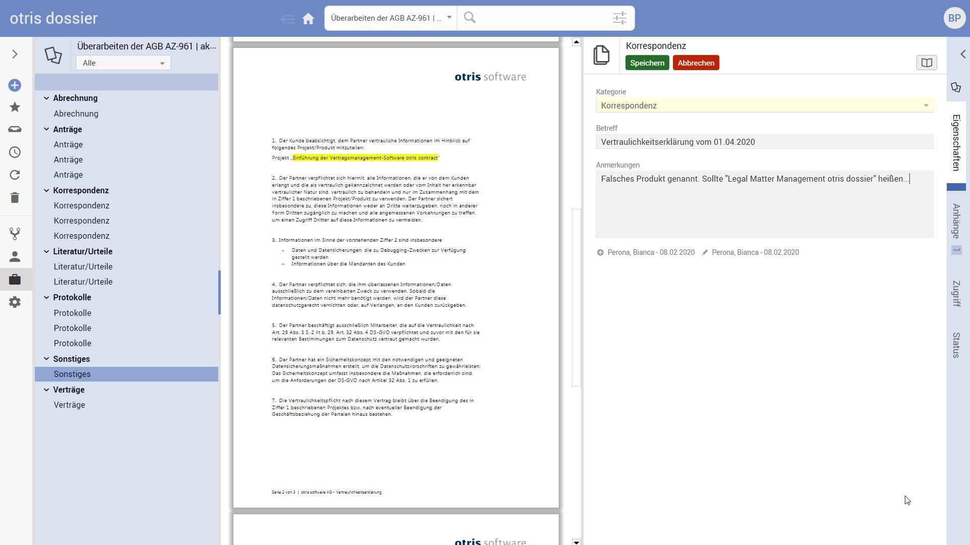 Digitale-Akte - Legal Matter Management